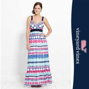 Vineyard Vines Carolina Colorful Ocean Dress Sz 8